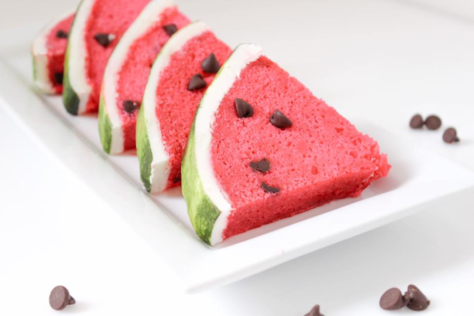 watermelon cake slices