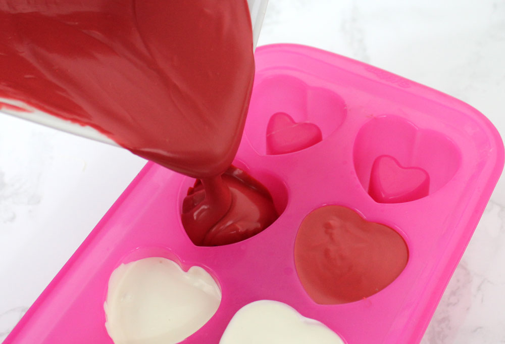 chocolate mold for heart Valentine candy shot glasses