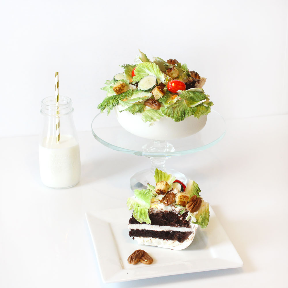 chocolate salad food network slice