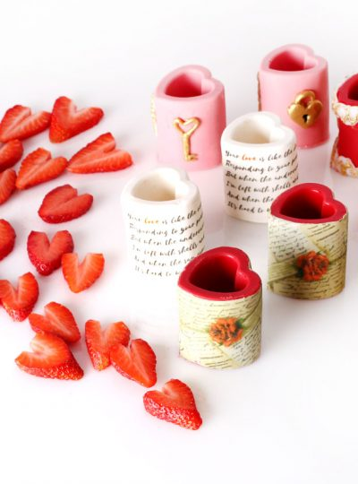 candy chocolate heart shot glasses